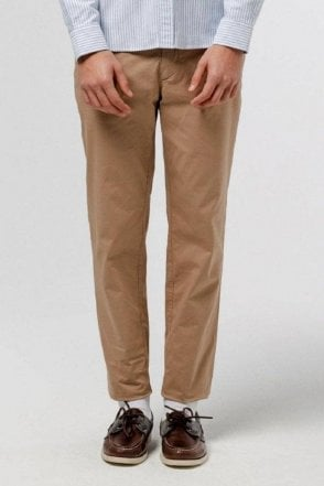 Chino Pants Plain Camel