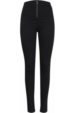 Ichi Highwaist Slim Jeans Black