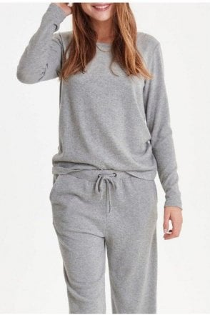 Yose Ls Top Grey Melange
