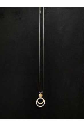 Circles Necklace Gold