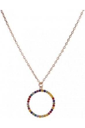 Necklace Gold Multi Circle Pen.