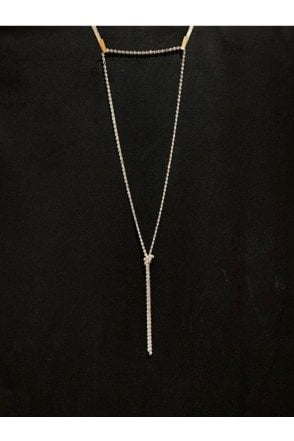 Long Knot Necklace Silver