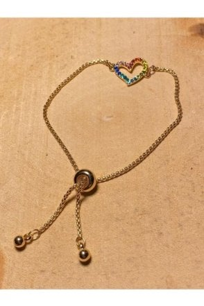 Bracelet Gold Multi Heart
