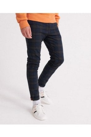 Edit Slim Chino Blue Check