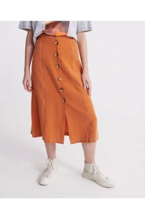 Valley Midi Skirt Rust