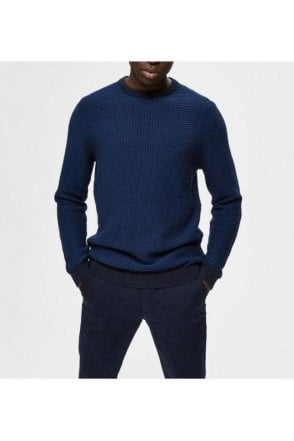 Selected Slhaiden Crew Neck Estate Blue