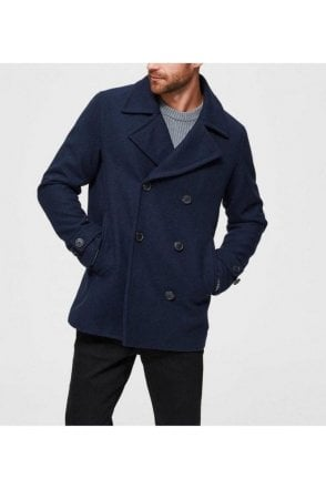 Selected Slhsustainable Peacoat Sky Captain