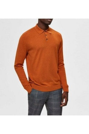 Selected Slhberg Ls Polo Pumpkin