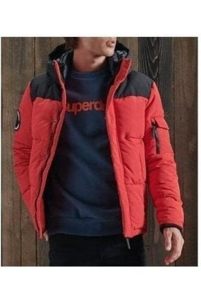 Superdry Quilted Everest Jkt High Risk Red