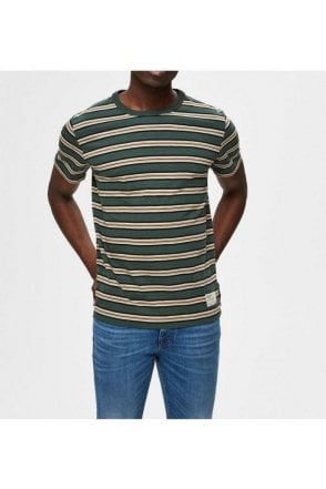 Selected Slhcarl Stripe Ss Sycamore