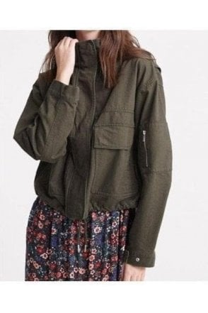 Superdry Bora Cropped Jacket Bungee Cord