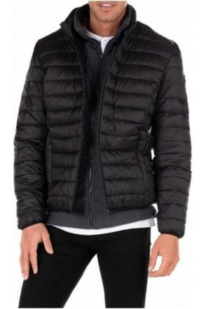 Schott Quilted Jacket Polar Black/anthracite