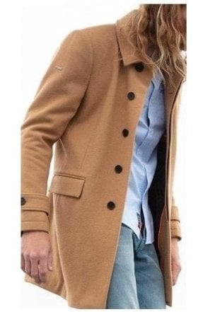 Superdry Edit Wool Car Coat Camel