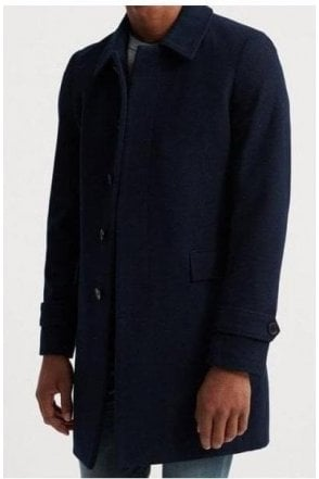 Superdry Edit Wool Car Coat Dark Navy
