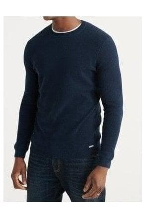 Superdry Edit Supima Cotton Crew Carbon Navy