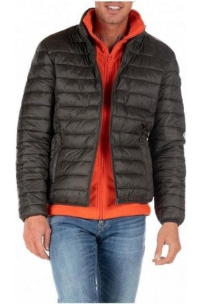 Schott Quilted Jacket Polar Khaki/orange