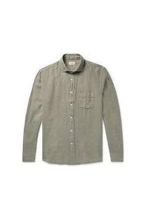 Hartford Pal Woven Shirt Light Taupe