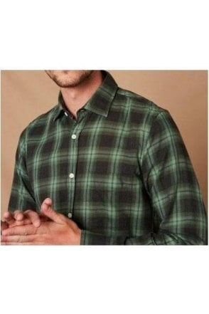Hartford Paul Woven Shirt Grey/green Plaid