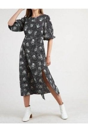 Scatter Spray Dress Black