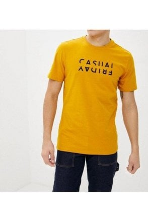Casual Friday Thor Crew Neck Tee Golden Yellow