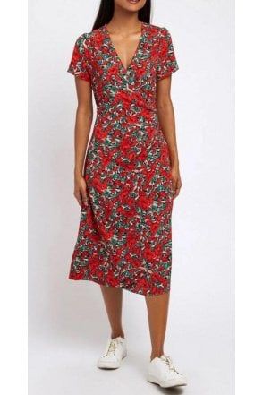 Louche Midi Dress Red