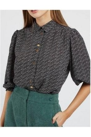 Louche Galaxy Dot Ss Shirt Black