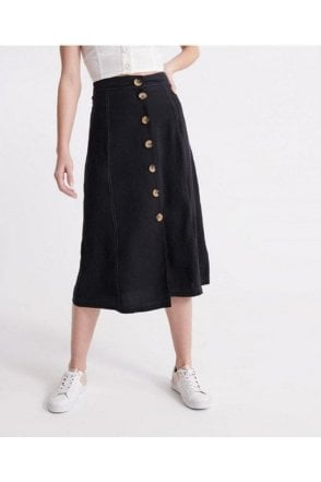 Superdry Valley Midi Skirt Black