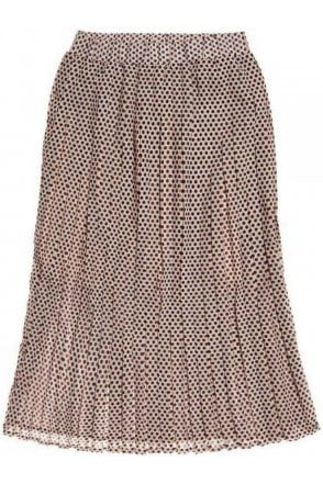 Superdry Summer Pleated Skirt Beige Dot