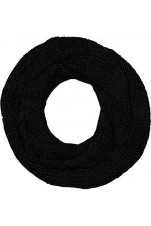 Jack And Jones Jacrib Knit Tube Scarf Snood Black