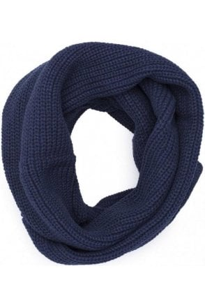 Jack And Jones Jacrib Knit Tube Scarf Snood Navy Blazer
