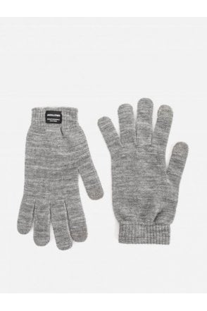 Jack And Jones Jachenry Knit Gloves Grey Melange