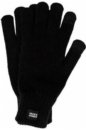 Jack And Jones Jacoliver Knit Gloves Black