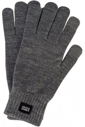 Jack And Jones Jacoliver Knit Gloves Grey Melange