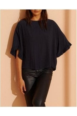 Lola Wide Sleeve Top Dark Charcoal