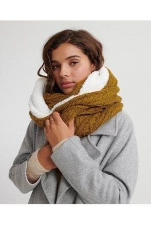 Gracie Cable Snood Ochre