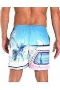 FRANKS Palm Tree Swim Short Blue