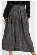 LOUCHE Galaxy Dot Midi Skirt Black