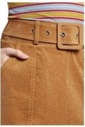 LOUCHE Cord Mini Skirt Tan