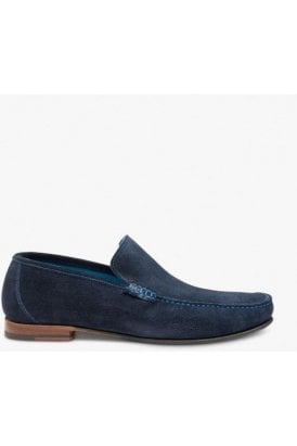 Loake Core Suede Apron Slip On Navy