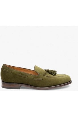 Loake Suede Tassel Loafer Green