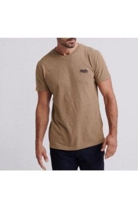 Superdry Ol Vintage Embroidery Tee Buck Tan Marl