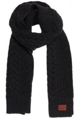 Superdry Woodruff Scarf Magma Black Twist