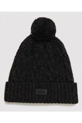 Superdry Jacob Beanie Magma Black Twist
