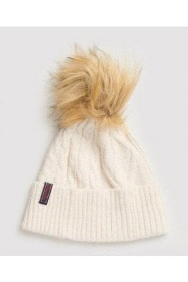 Superdry Lannah Cable Beanie Winter Marl