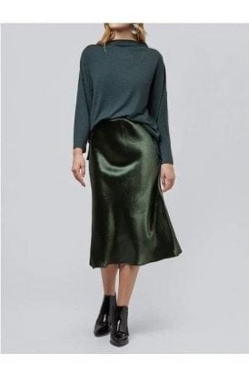 Bias Cut Skirt Green