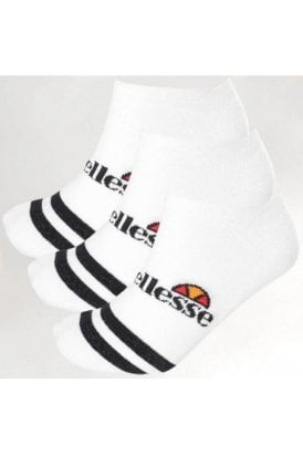 Melna 3pk Sock White