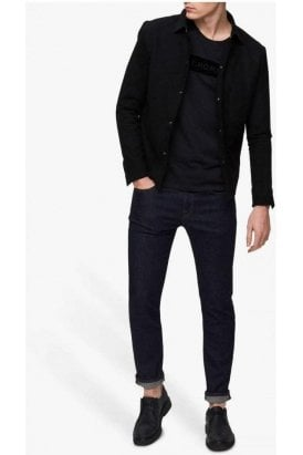 Selected Slhstraight-scott Rinse Dark Blue Denim
