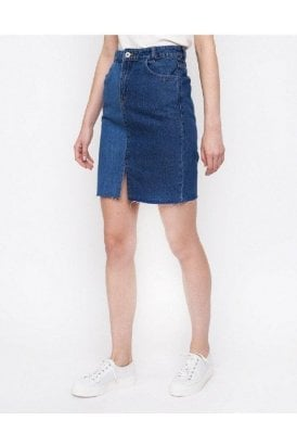 Ichi Denim Skirt Denim