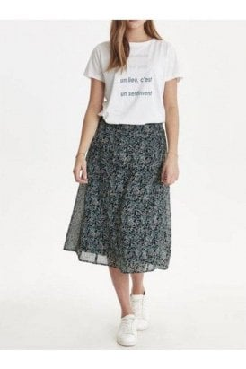 Ichi Izzie Skirt North Atlantic
