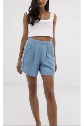 Ichi Shorts Bleached Light Blue
